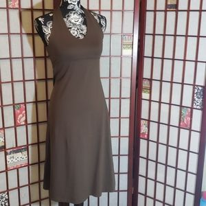 Patagonia halter backless brown dress S